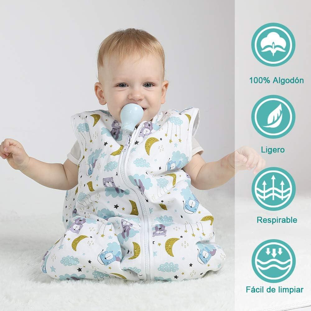 Licitn Saco de Dormir para Beb/é 2.5 TOG Saco de Dormir de Algod/ón Unisex para Beb/és,Longitud Ajustable para Beb/é