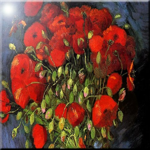 Rikki Knight Van Gogh Art Among Trees Design Ceramic Art Tile 6 x 6