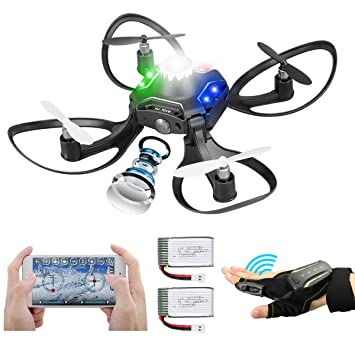 Makerfire Mini Drone Plegable con cámara, 2 baterías Sensor de ...