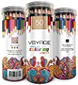 Colored Pencils by Voyage Designs Pack of 50 Adult Coloring Pencils Assorted Colors, Watercolor Pencils Set, Durable Case, for Adult Coloring Books, Drawing, Sketch, Artists. Pencils for Kids from VOYAGE DESIGNS