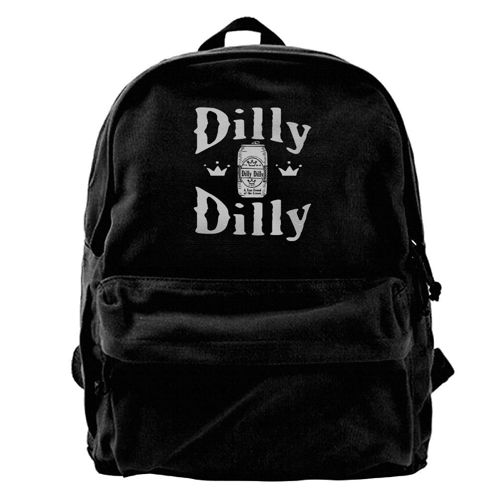 Oyangqu Canvas Laptop Backpack, Waterproof School Backpack For Men Women, Beer Logo Dilly Lightweight Anti-theft Outdoor Travel Daypack College Student Rucksack Fits Up To 15.6 Inch Computer