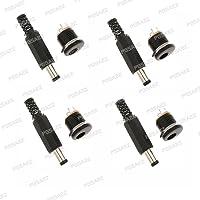 PGSA2Z™ DC Connector 5.5 * 2.1/5.5x2.1mm dc Power Connector Male Female Total 5pcs(Male 5pcs+ Female dc Power Socket Plug Jack
