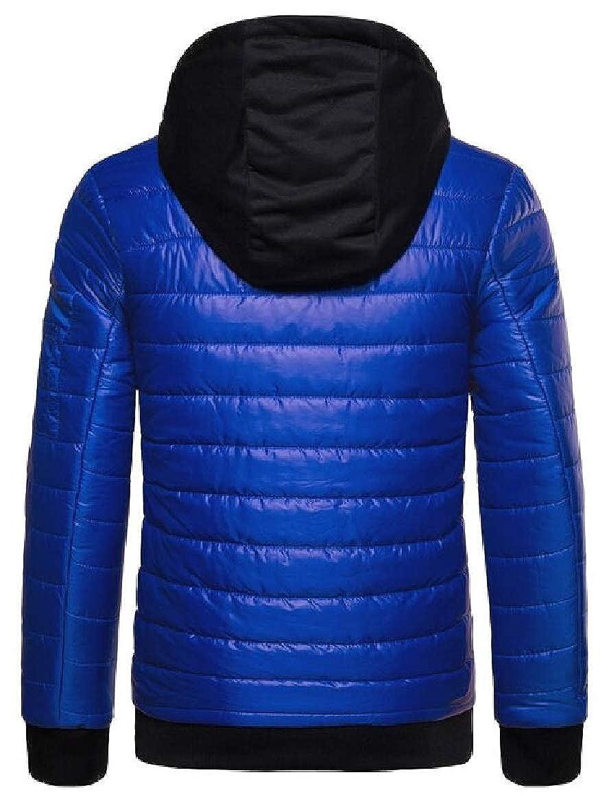RRINSINS Mens Winter Warm Slim Zip up Package Hooded Jacket Padded Coat