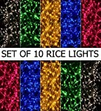 Prop It Up Rice Lights Serial Bulbs (Ladi) Decoration Lighting for Diwali Christmas,(4-5 Mtrs)(Pack of 10)