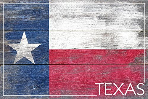 Rustic Texas State Flag (9x12 Art Print, Wall Decor Travel Poster)