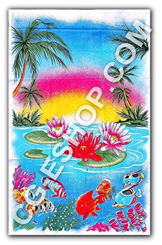Confezioni Giuliana Oferta. 2 Toallas Playa Italia 100% algodón Ligero Esponja Solo 500 Gr