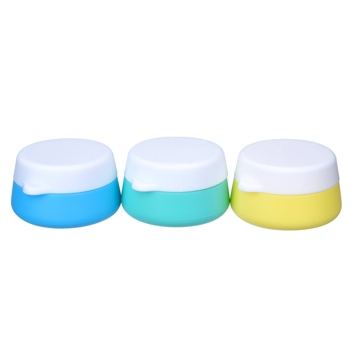 Mudder Silicone Cosmetic Containers Cream Jar with Sealed Lids, 3 Pieces (30 ml)