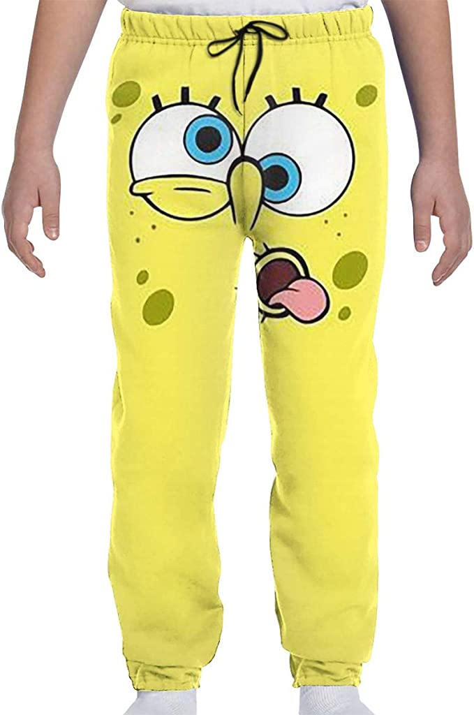 Cartoon Owl Boys Athletic Smart Fleece Pant Youth Soft and Cozy Sweatpants