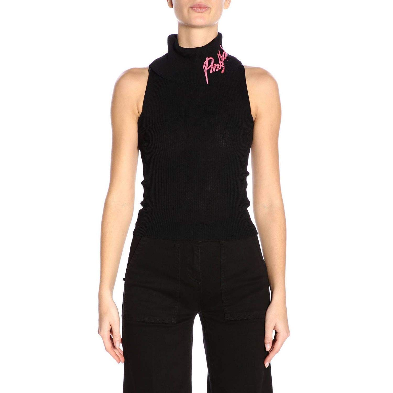Pinko Women's 3U10JHY5J3Z99 Black Viscose Jumper