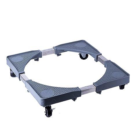 Muebles telescópicos base móvil multifuncional Rodillo del carro ajustable con 4 rodillos Ruedas giratorias de goma