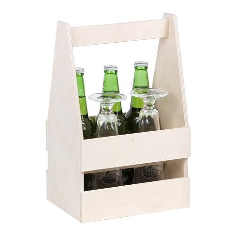6 botellas de cerveza cerveza portador Madera Cerveza caja de madera caja de cerveza cerveza Caja