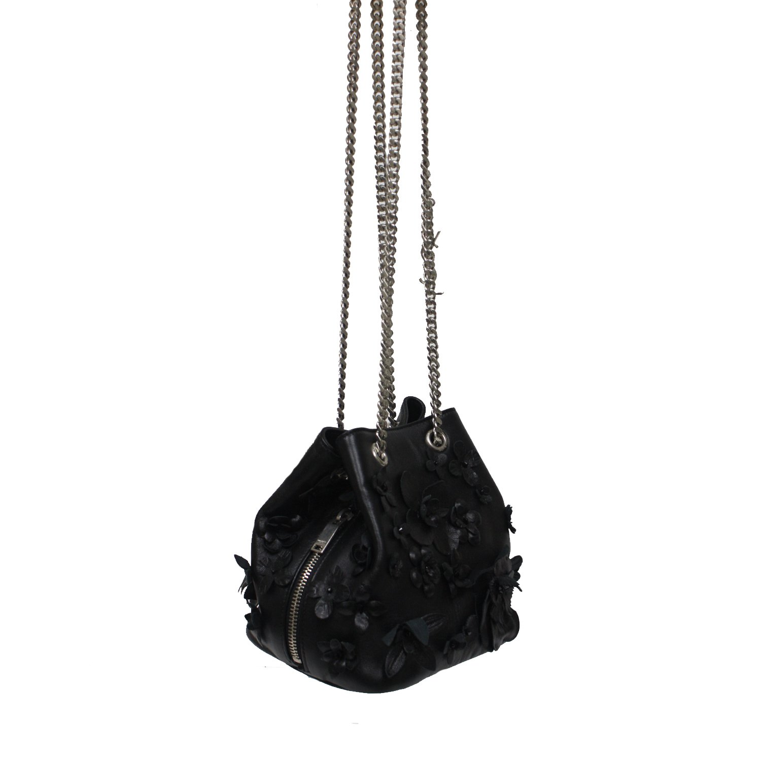 075460cf3063 Saint Laurent YSL Small Emmanuelle Flower Nappa Leather Bucket Chain Bag  425068 1000  Amazon.ca  Shoes   Handbags