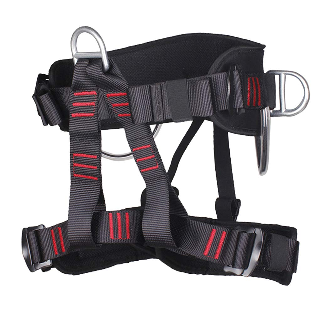 P Prettyia 20KN Climbing Rescue Mountaineering Safety Harness Half Body Protection
