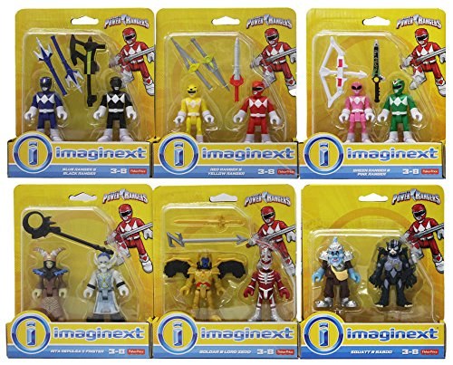 Fisher Price Imaginext Power Rangers Complete Figure Bundle 12 Pack