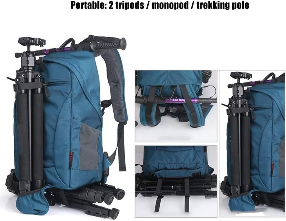 30 20 48cm Orange Well-Made RuiXia Well-Made Double Shoulder Camera Bag Large Capacity Photography Backpack Outdoor Leisure SLR Package Professional Digital Liner Bag