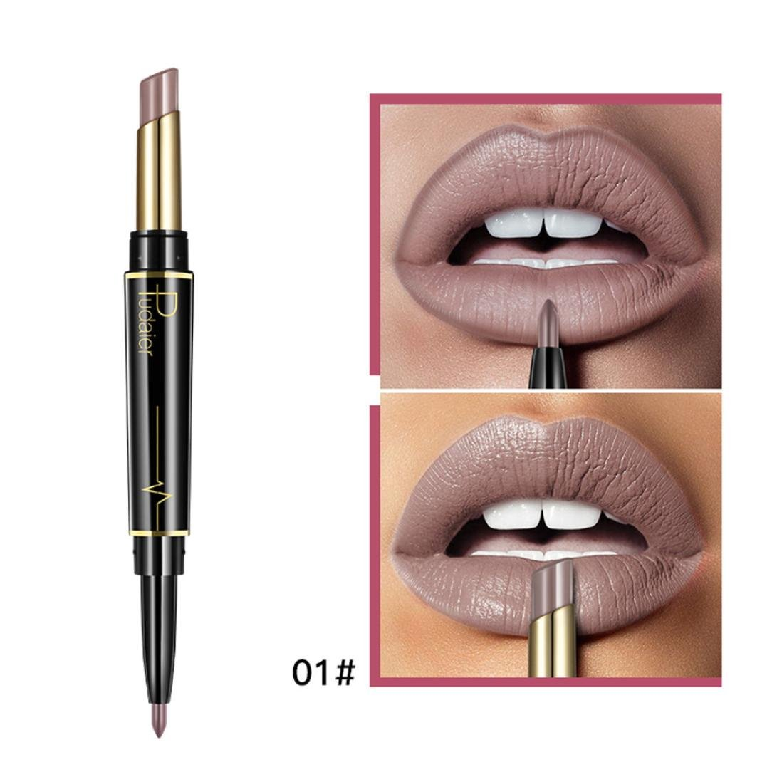 Ourhomer New Lip Liner Pencil Double-end Lasting Lipliner Waterproof Lip Liner Stick Pencil Makeup Tools
