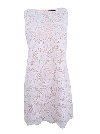 141aa397a356 Jessica Howard Womens Lace Overlay Sleeveless Cocktail Dress White 8 at  Amazon Women's Clothing store: