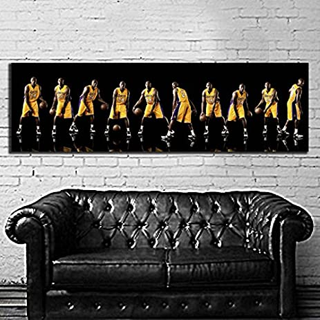 Amazon.com: Poster Canvas Kobe Bryant 20x60 inch (50x150 cm) Canvas ...