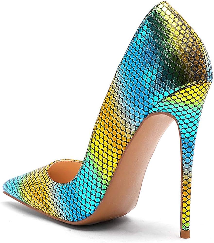Lydee Femmes Mode Talons Aiguilles Chaussures Slip on