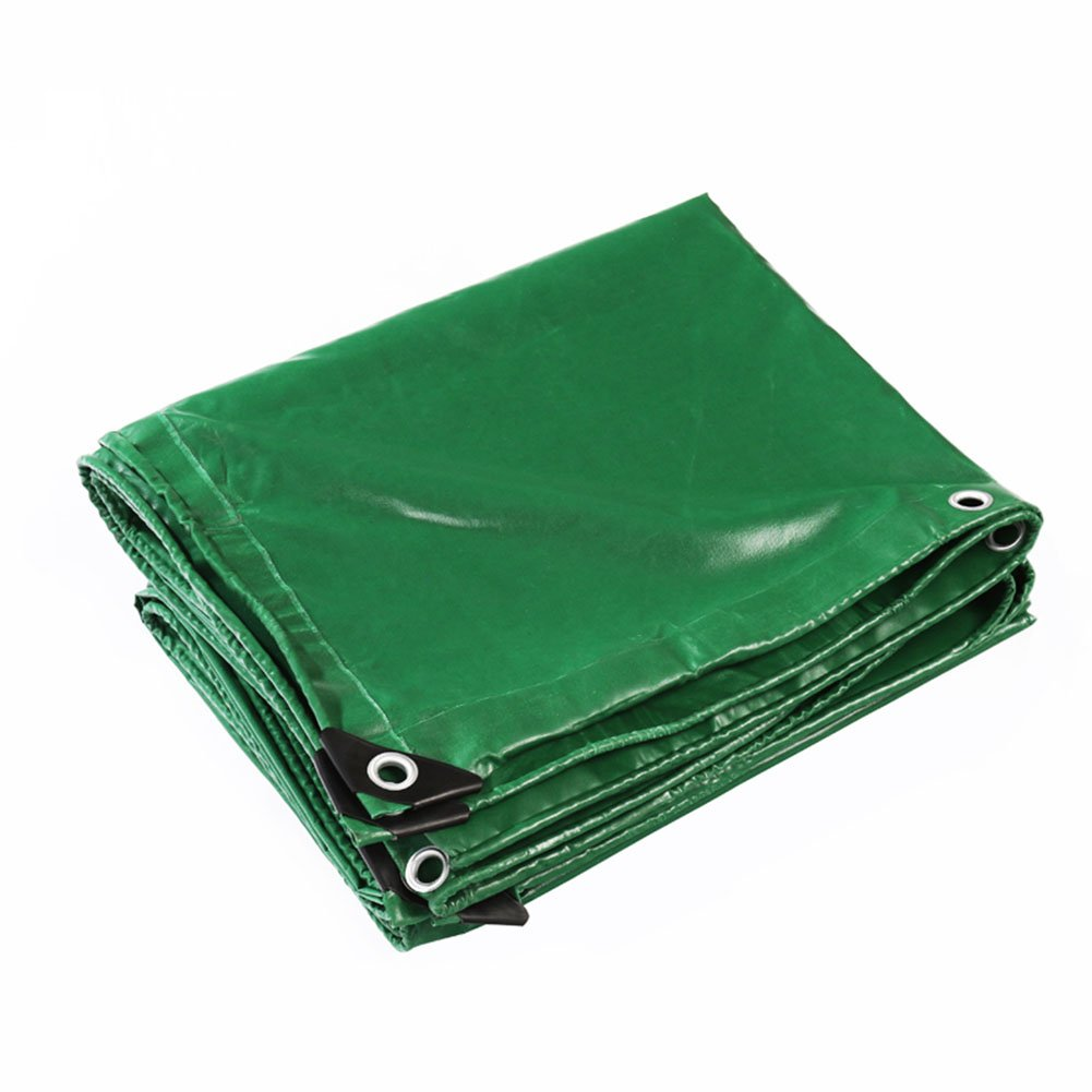 Green 2x10m CHAOXIANG Tarpaulin Tent Foldable Thicken Resistance Sun Predection Lightweight PVC Green, Thickness 0.42mm, 18 Sizes (color   Green, Size   2x10m)