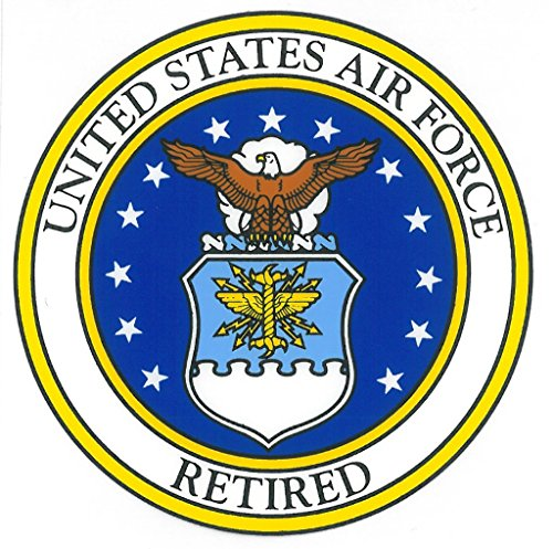 (United States Air Force Retired Car Decal US Military Gifts USAF Products)