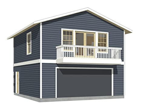 Garage Plans: Two Car, Two Story Garage With Apartment and ...