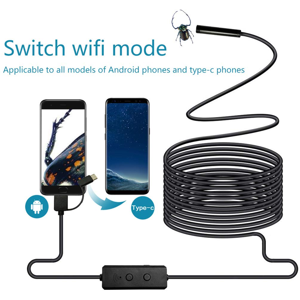 5m Auto Repair Pipe Three-in-One 720P HD Pixel for Industrial Mobile Phone - 5m by VoguSaNa (Image #2)