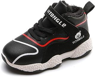 Scarpe Sportive per Bambini Inverno Ragazzi Ragazze Cotton Plus Velvet Sneakers Alte Antiscivolo Scarpe da Corsa per Bambini