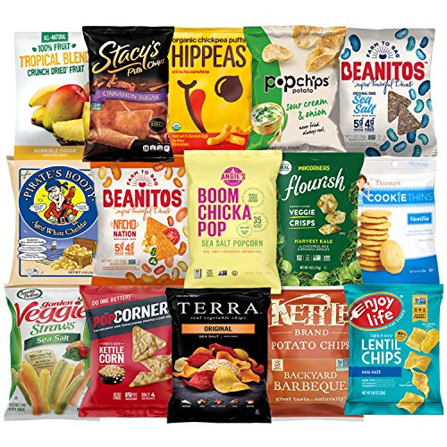 Ultimate Premium Healthy Chips & Snacks Care Package Variety Pack by Variety Fun (Care Package 35 Count) by Custom Varietea (Image #2)