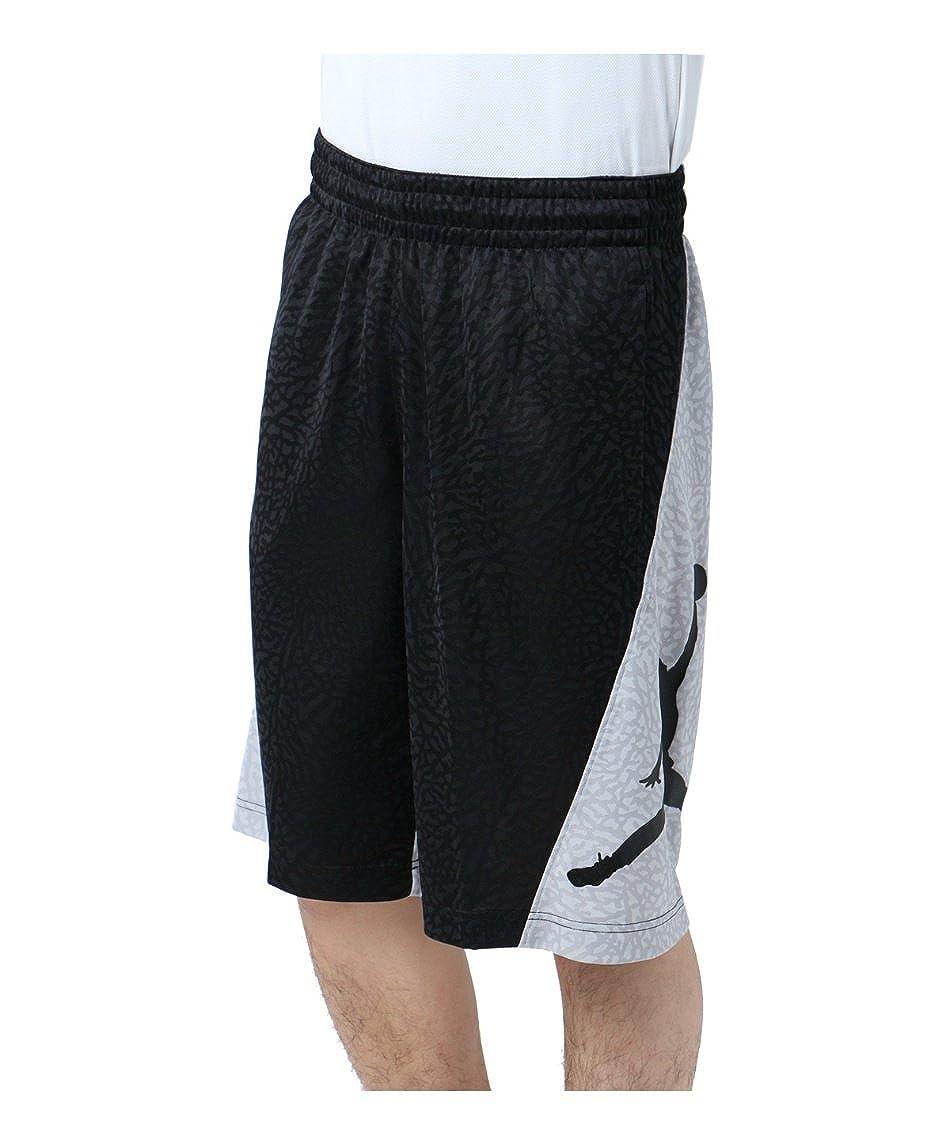 ナイキ バスケットボール パンツ ジョーダン RISE バーティカル ショート 861473-011 GY/BK XL B074D29VYY