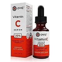 OVIE Natural Vitamin C Anti-Aging Serum for Face | Hydrating Anti-Wrinkle Skin Restoration...