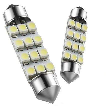 Marsauto 578 211 2 212 2 Led Dome Light Bulb For Car 569 6411 41mm 42mm Festoon 1 72 Inch Interior Lights 6000k Xenon White