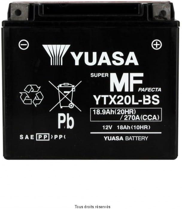 YTX20L-BS BATTERIA YUASA HARLEY DAVIDSON FXST 1580 SERIES SOFTAIL 2008-2009
