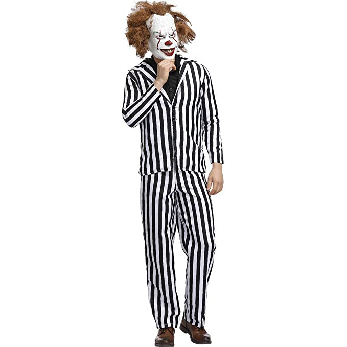 Amazon.com: Disfraz de payaso de Halloween, disfraz para ...