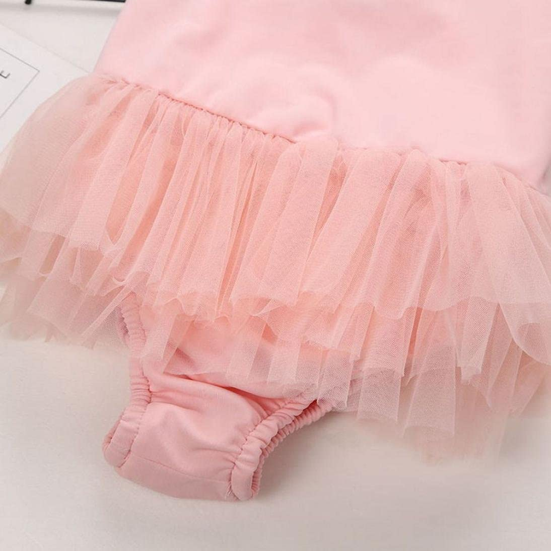 Fartido Infrant Baby Girl Solid Swimwear Wing Thin Veil Pendulum Suit Hat Set