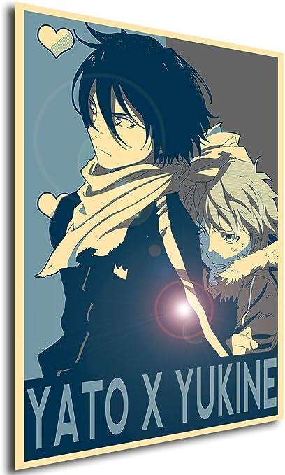 Instabuy Poster Yaoi Propaganda Noragami Yato X Yukine Küche Haushalt