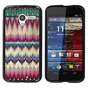 Paccase / SLIM PC / Aliminium Casa Carcasa Funda Case Cover para - Carpet Feather Native American Culture - Motorola Moto X 1 1st GEN I XT1058 XT1053 XT1052 XT1056 XT1060 XT1055