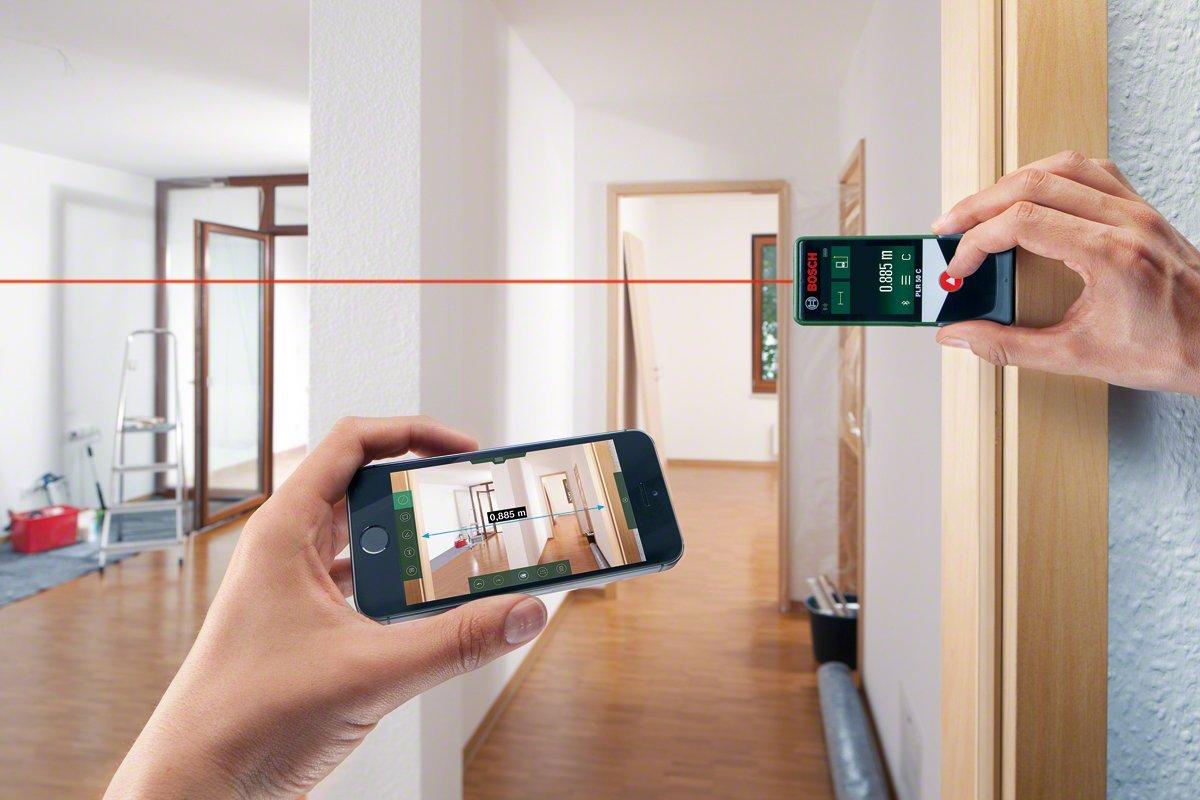 Bosch Laser Entfernungsmesser Neigungssensor : Bosch laser entfernungsmesser plr 50 c app funktion 3x aaa