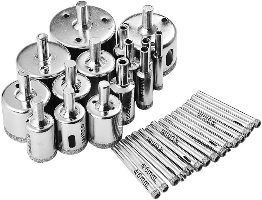 Details about  /10pcs//Set 6mm-32mm Diamond Tool Drill Bit Hole Saw Set For Ceramic Marble Glass