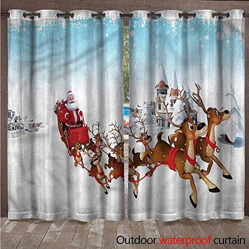 tdoor Door Curtain Christmas Ride on Sleigh W108 x L96 ()