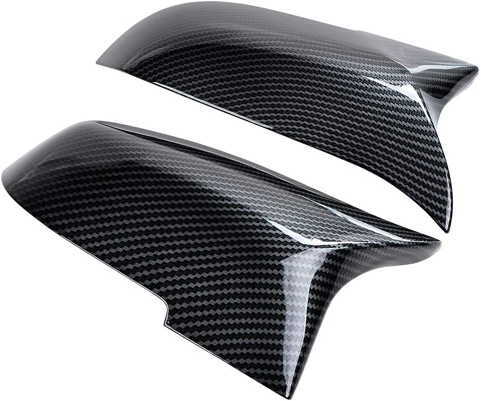 F18 Facelift 520i 528i 535i Carbon Fiber F11 2X Door Rearview Mirror Cover Cap Compatible with BMW F01 F02 GT F07 F06 F12 F13 F10