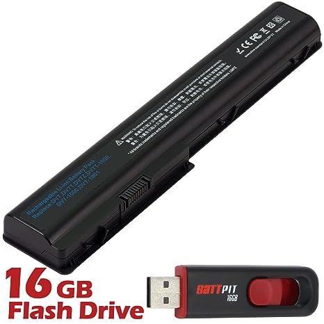 Battpit Recambio de Bateria para Ordenador Portátil HP Pavilion dv7-3180es (4400mah) Con