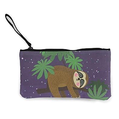 Cartoon Pug Wallet Coin Purse Canvas Zipper Make Up for Travel