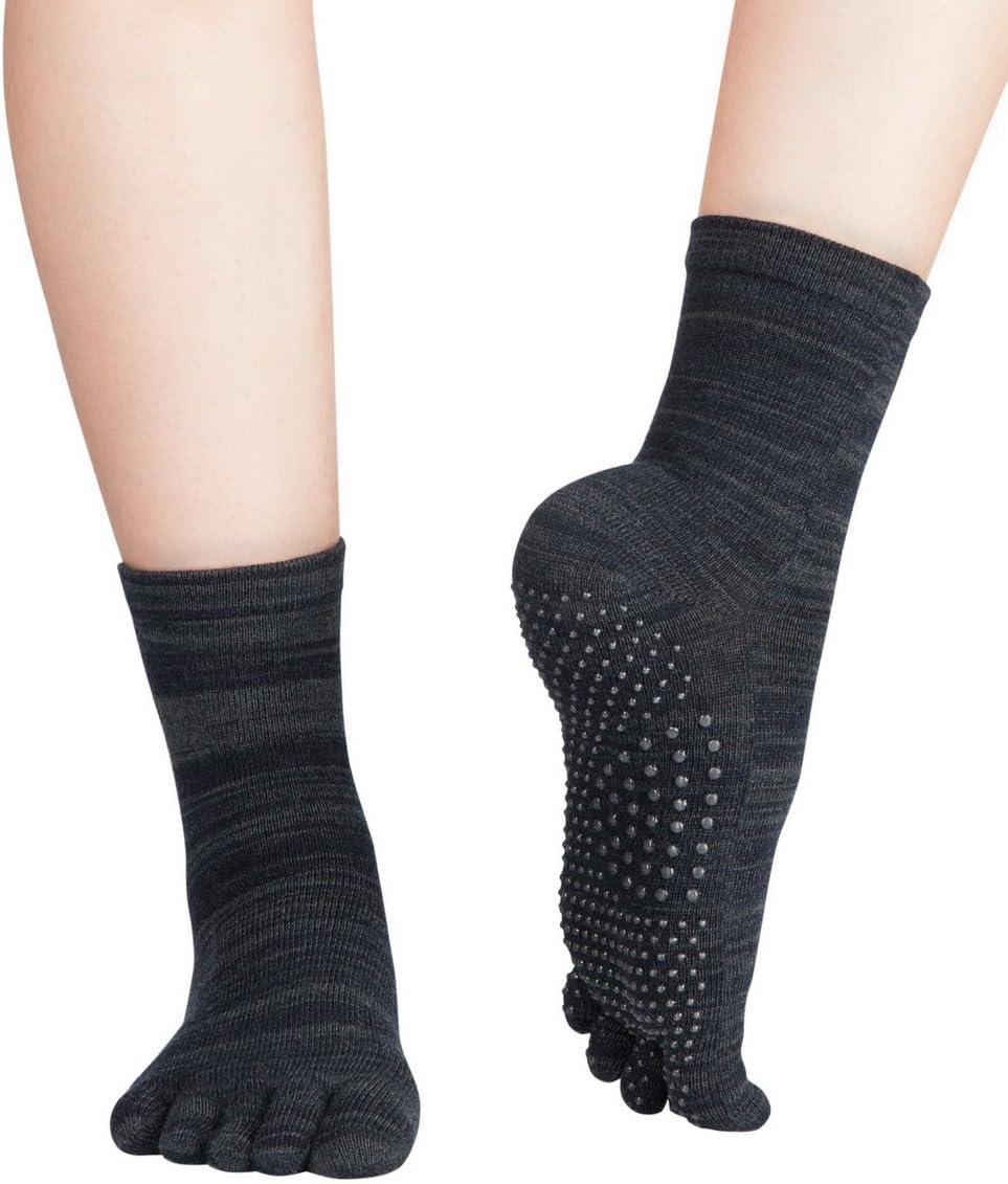 Knitido Fruits /& Pepper Massage Non-Slip Colourful Toe Socks