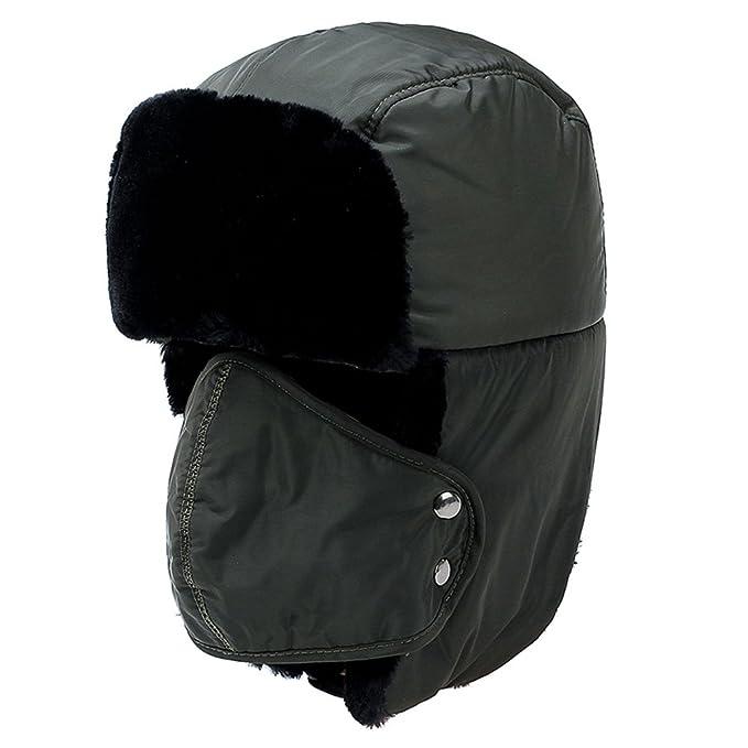 Yooeen Unisex Sombrero de Bombardero Trooper Trapper Sombrero de Esquí Con orejera y máscara a prueba de viento Hombres Mujeres SNcvgSvlF