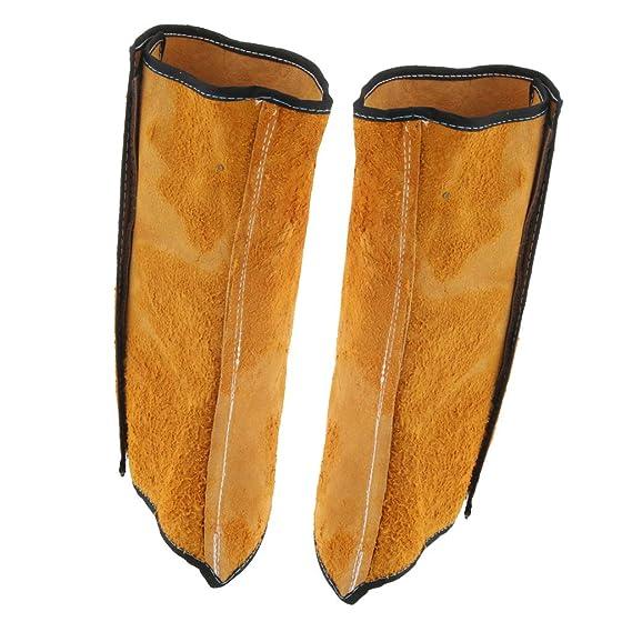 Sharplace Soldadura De 2 Piezas Zapatos De Protección Calzados Para Calzado Calzas Pies Cubierta Soldador Cuero De Vaca: Amazon.es: Oficina y papelería