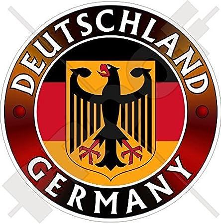 Deutschland Flagge Wappen Deutscher Adler Deutsch 100mm Auto Motorrad Aufkleber Vinyl Sticker Garten