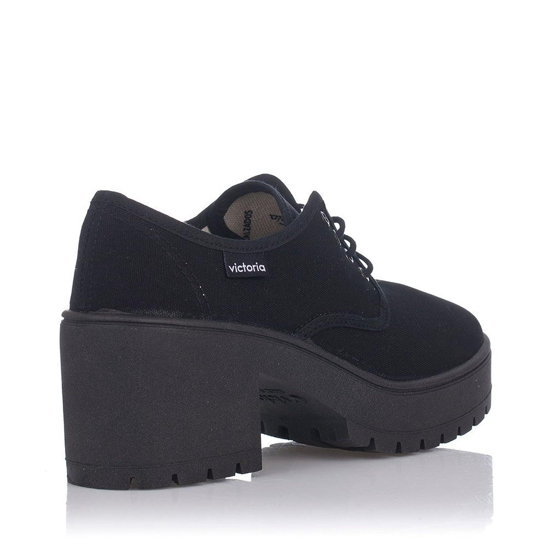 09501 Chaussures De Victoire - Toile À Talons, Couleur Noir, Taille 37