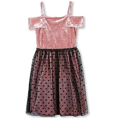 ffe322222c43 Amazon.com  Speechless Girls  Off The Shoulder Velvet Bodice Party Dress   Clothing