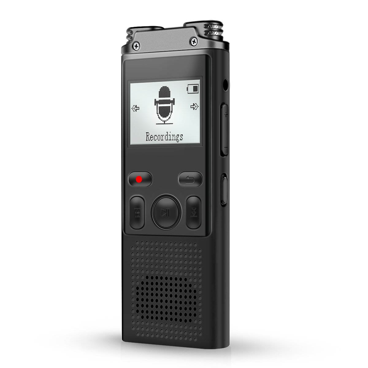 Voice Recorder, SoundVoice 8GB Digital Voice Recorder, Voice Activated 1536kpbs PCM Sound Recorder with MP3 Player & Micro USB Port, Double Noice Cancelling Microphone, Auto Save Function, 64G TF Card
